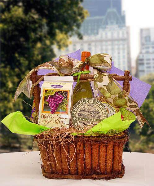 Baby Gift Baskets New York Delivery : Wine cheese gift baskets by the perfect new york