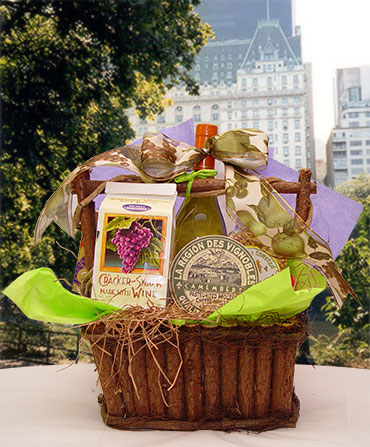 Wine & Cheese Gift Basket Delivery New